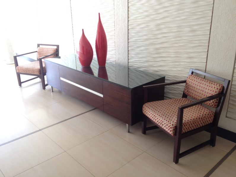 seating area and table