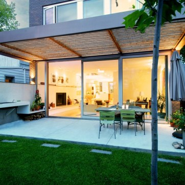 Covered Outdoor Patio by Andrew Snow Photography