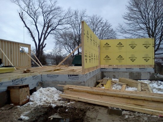 Ground floor framing. 'Entryway' view