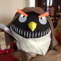 A Halloween Reveal: Kash's DIY Angry Birds costume