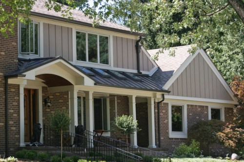 Traditional installation of HardiePanel vertical siding via houzz