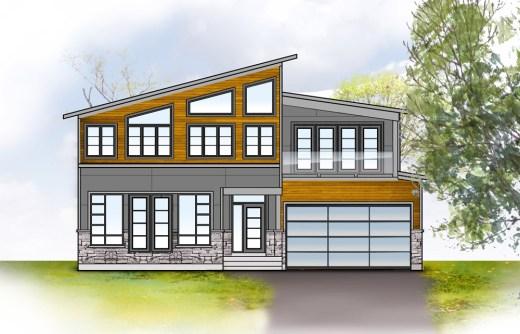 Our original conceptualized elevation rendering & colour scheme