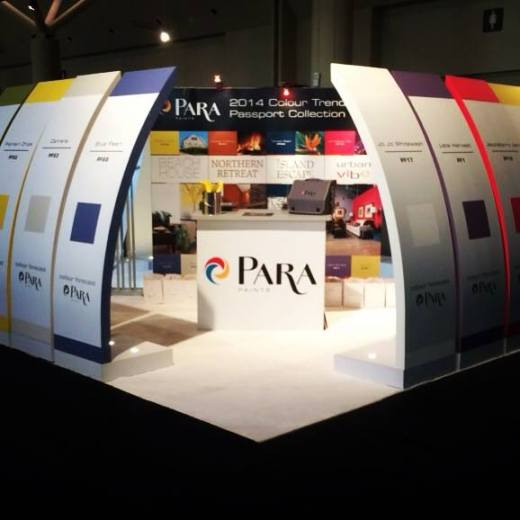 Get cozy inside the paint chip walls at the PARA booth for IDS 2014