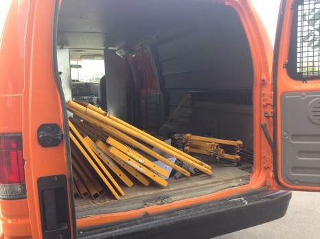 Depot van all loaded up!