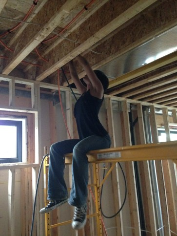 Installing pex runs - Taking turns definitely helped keep each of us from tiring out.