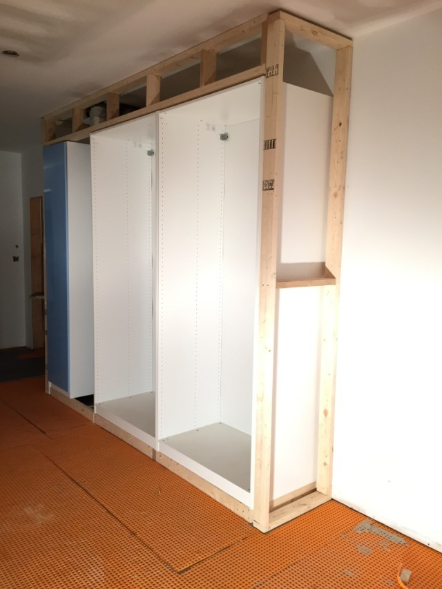 PAX wardrobe system all framed in