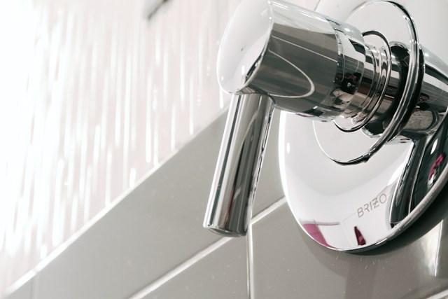 Brizo Odin thermostatic control - Master Bath Retreat | The Dreamhouse Project