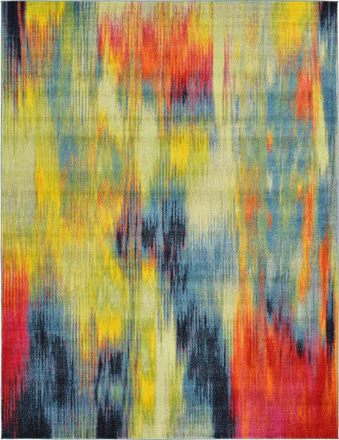 Colourful modern abstract rug