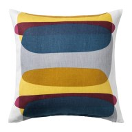 IKEA Cushion cover, blue/gray, yellow