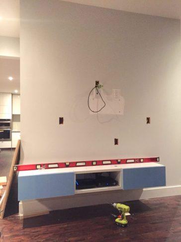 Dreamhouse media wall progress