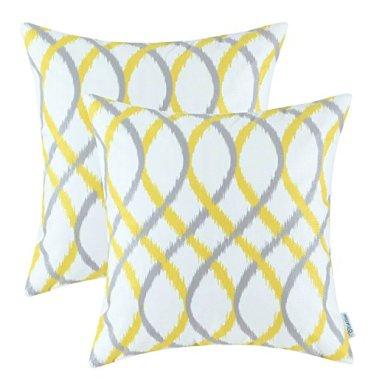 Modern geometric accent pillow