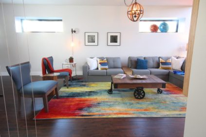 The Dreamhouse Project | Modern Industrial Family Room
