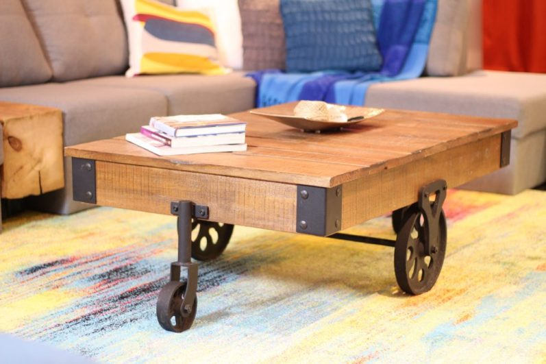 Dreamhouse Project - rustic industrial coffee table