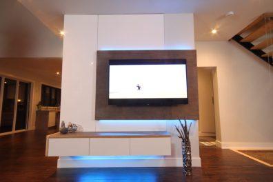 Dreamhouse Project DIY media wall LED lights blue