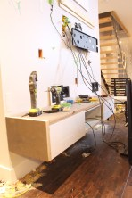 Dreamhouse Project - Media wall dismantled, tools everywhere