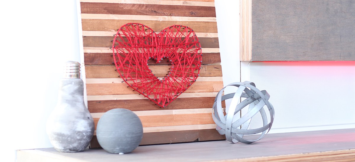 DIY Valentine String Art