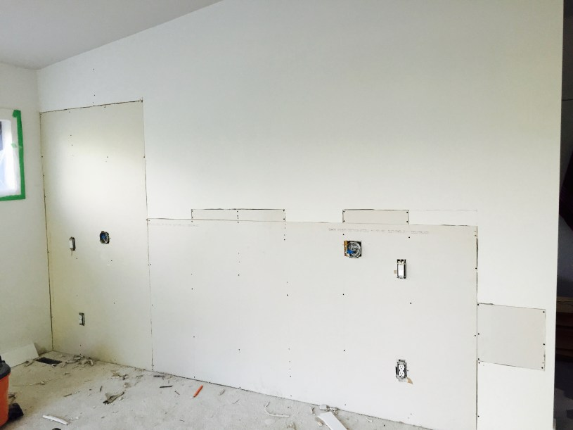 Unfinished bdroom wall - Dream Bedroom Before: | The Dreamhouse Project