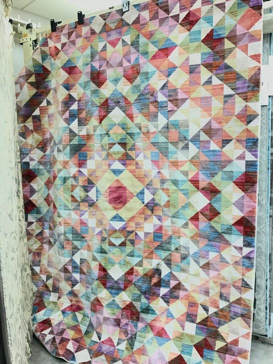 Colourful geometric rug from Homesense