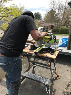 "Kes getting acquainted with our new Ryobi 12"" sliding miter saw"