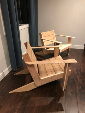 DIY Modern Muskoka Chairs - side profile