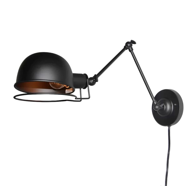 Industrial 1-Light Swing Arm