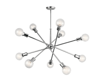 Kichler Armstrong 10 Light Chandelier in Chrome