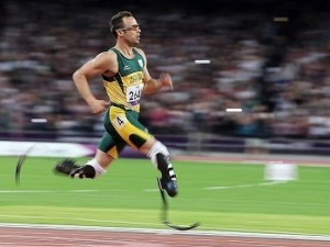 2012 LONDON,ENGLAND,08.SEP.12 200m men T44 Picture shows Oscar Pistorius RSA Paralympics London Summer Games Summer Games Disabled Sports Disability