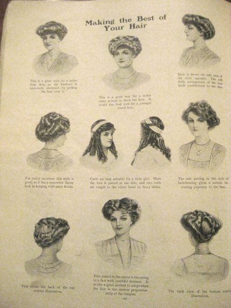 Making The Best Of Your Hair In 1911 The Dreamstress
