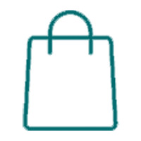 Shopping Bag outline icon for the merchandise section of the drexelbrook market web store