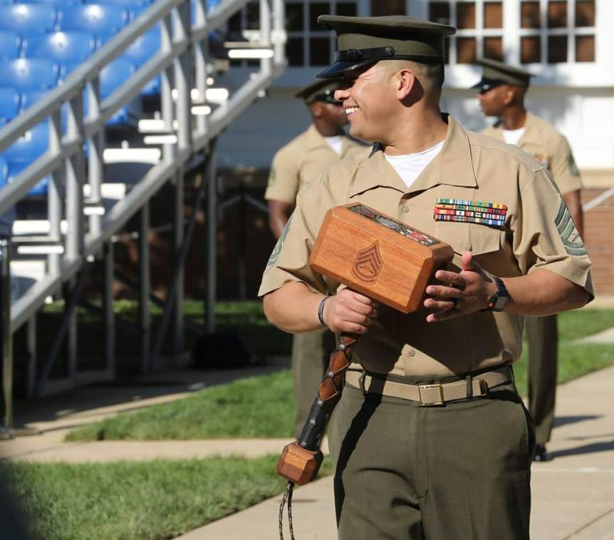 Aaron Calderon, Drill Master Marine Barracks Washington