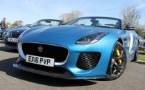 Jaguar F-Type Project 7 blue Goodwood Breakfast Club Soft Top Sunday May 2016