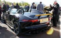 Jaguar F-Type Project 7 rear Goodwood Breakfast Club Soft Top Sunday May 2016