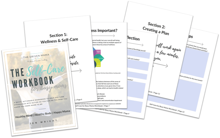 The Driven Mama | Self-Care Workbook for Busy Moms