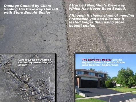 acrylic asphalt sealer damage
