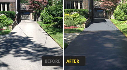 asphalt sealing by the driveway doctor