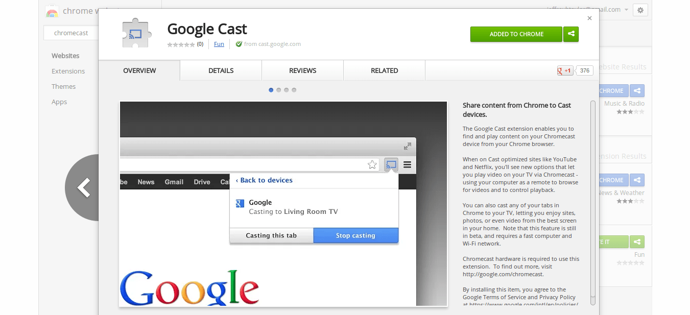 Chromecast App for Android and Google Chrome Extension – The