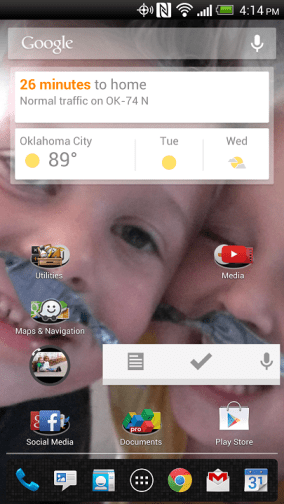 Android Home Screen Folders