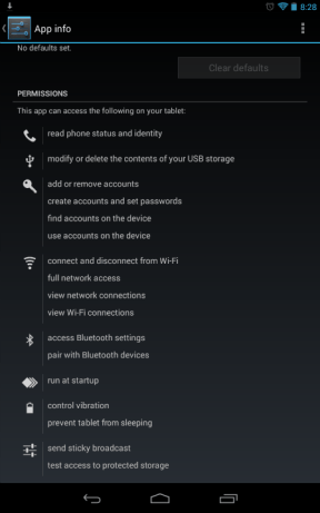 Installed App Permissions
