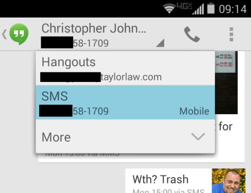 how to delete messages in hangouts