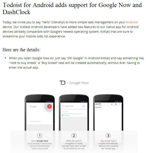 Todoist With Google Now