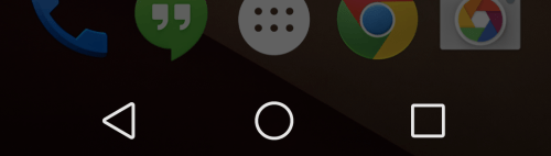 Android L Navigation buttons