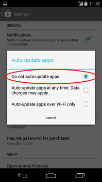 Google Play Do Not Auto Update