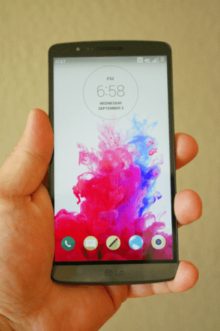 LG G3 Front View