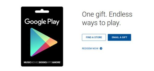 Play Store Gift Card