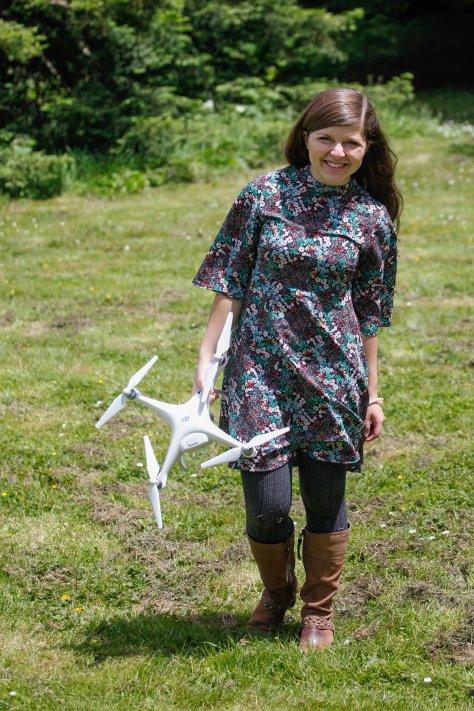 dji phantom 4 drone girl review