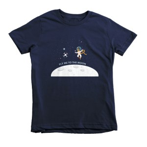 """Fly Me To The Moon"" Short sleeve kids t-shirt"