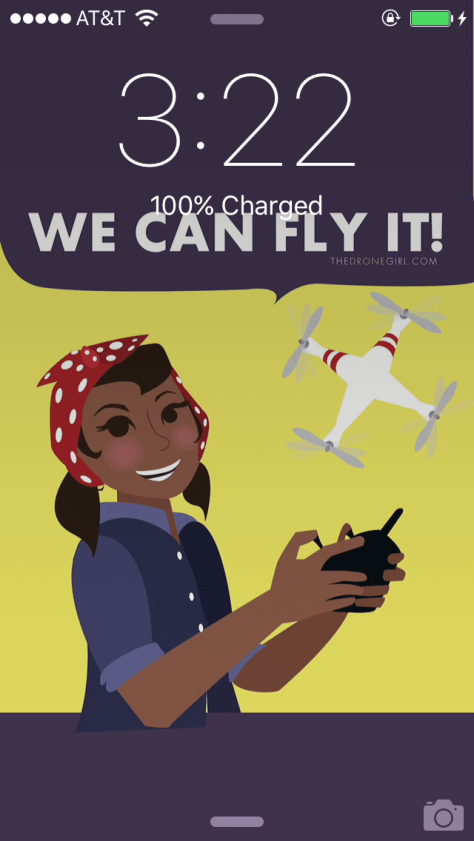 we can fly it drone girl