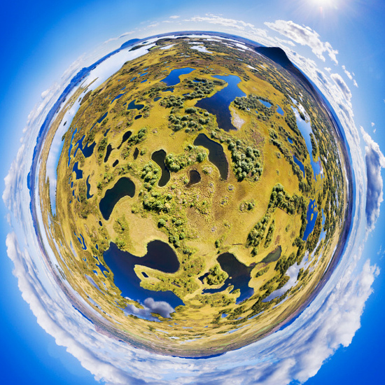 Hidden Lakes in 360 skypixel drone
