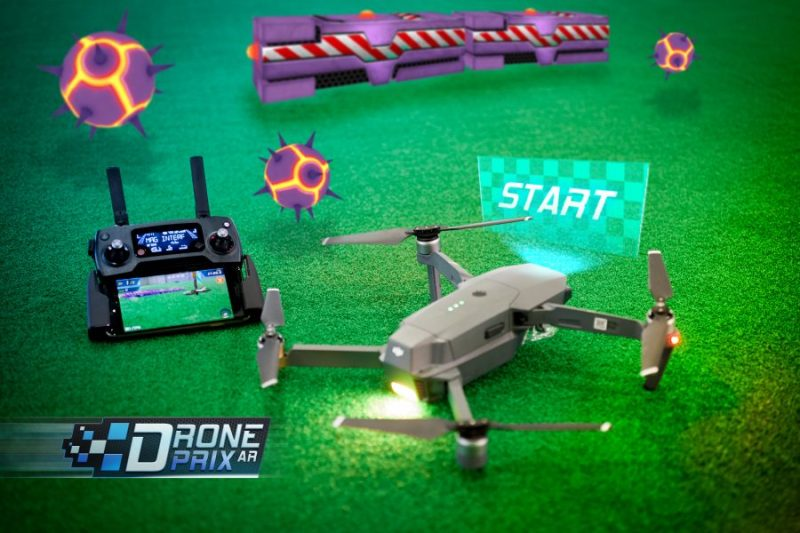 edgybees drone augmented reality game dji