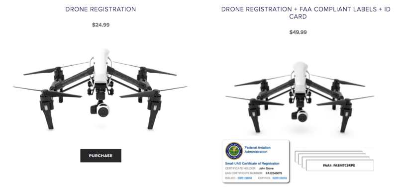 drone registration scams fake FAA